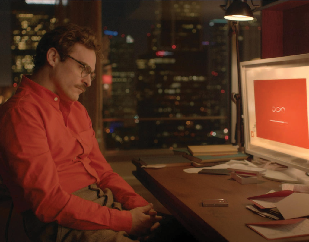 Joaquin Phoenix in the movie Her