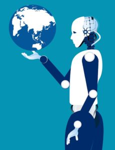 Robot and Globe in the AI Era